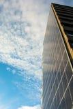 Solpaneler med molnig himmel Royaltyfria Bilder
