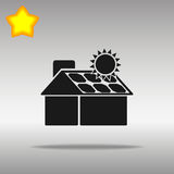 Solpaneler på huset Stock Illustrationer