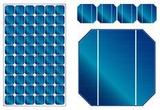 Solpanelillustration med detaljerade celler Arkivbilder