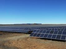 Solpanellantgård Arkivfoto