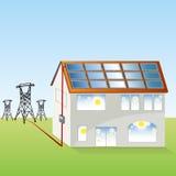 Solpanelsystem stock illustrationer