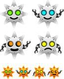 Solrobottecken - uppsättning royaltyfri illustrationer