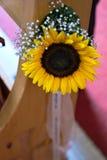 Solroskyrkbänkmarkör för att gifta sig i Italien Royaltyfri Fotografi