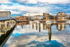 Solsiden, Trondheim Fotografia Stock