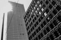 Solsken för för Toronto midtownplaza och skyskrapa Arkivfoto