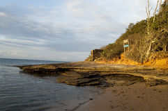 Solsken i Praia Fotografering för Bildbyråer