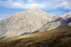 Solsken i pyreneesna i Andorra Royaltyfri Fotografi