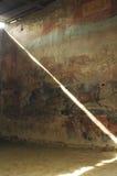 Solsken på en romersk freskomålning arkivbilder