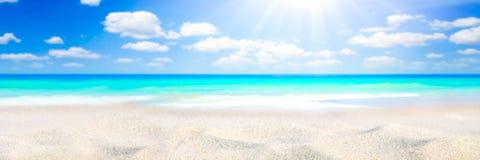 Solsken på stranden royaltyfri foto