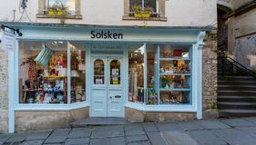 Solsken shoppar framdelen i Frome Fotografering för Bildbyråer