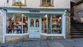 Solsken sklepu przód w Frome Obraz Stock
