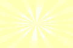 Solskenbakgrund, guling med vita band Royaltyfri Fotografi