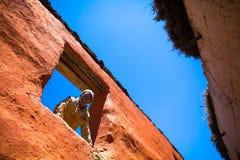 Solskenfolk av Lo Manthang Fotografering för Bildbyråer
