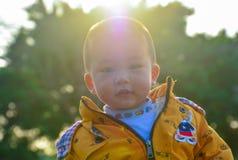 Solskenpojke royaltyfria foton