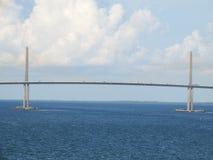 SolskenSkyway bro, Tampa Bay, Florida arkivfoto