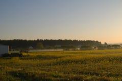 Solsoluppgång fältet Arkivbilder