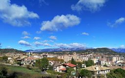 Solsona. Skyline with my little village Royalty Free Stock Photo
