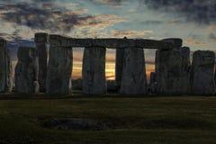Solstício de inverno de Stonehenge imagens de stock