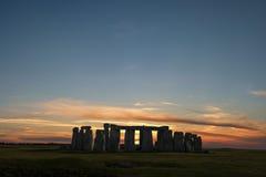 Solstice d'hiver de Stonehenge Photographie stock