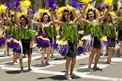 Solstice parade dancers Stock Images