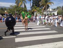 Solstice Parade Santa Barbara. Celebration of summer Royalty Free Stock Image