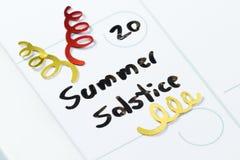 Solsticio de verano, el 20 de junio Foto de archivo