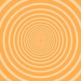 Solstrålar Cirkelstrålar Orange bakgrund spiral Orange bakgrund för sommar med cirkelmodellen Royaltyfri Foto