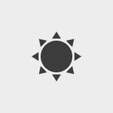 Solsymbol i svart färg Vektorillustration EPS10 stock illustrationer