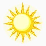 Solsymbol på vit Arkivbilder