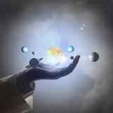 Solsystem Arkivfoto