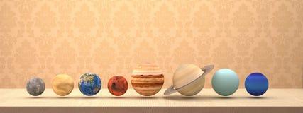 Solsystem av planeter med bakgrund Arkivbild