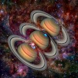 Solsystem - planet Saturn Arkivbilder