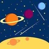 Solsystem utrymmedrägg som skapas av mannen Vektor Illustrationer