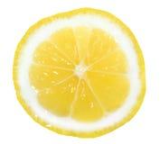 Fetta di limone giallo Fotografia Stock Libera da Diritti