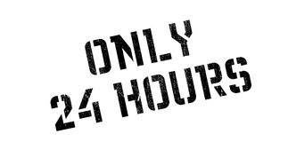 Soltanto 24 ore di timbro di gomma Fotografia Stock Libera da Diritti