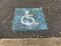 Soltanto parcheggio handicappato fotografia stock