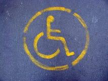 Soltanto per gli handicappati Fotografie Stock Libere da Diritti
