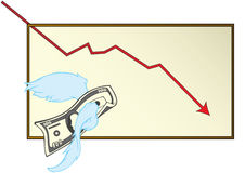 Soltar el dinero stock de ilustración