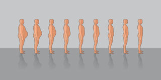 Soltar el peso ilustración del vector