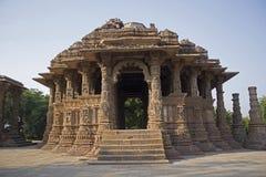Soltempel, Modhera, Gujarat royaltyfri bild