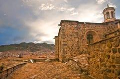 Soltempel, Peru, cuzco Arkivbilder