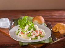 Solterito, en havre och sallad för lima böna, en typisk peruansk maträtt Arkivfoto