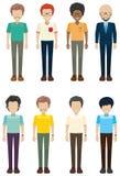 Solteros sin las caras stock de ilustración
