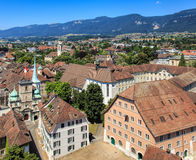 Solothurn cityscape. View on the city of Solothurn from the tower of the St. Ursus Cathedral. The city of Solothurn is the capital of the Swiss Canton of royalty free stock photos