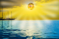 Soltse rise of the sea in the morning Royalty Free Stock Images