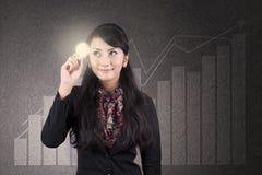 Solução 1 do lucro de negócio Foto de Stock