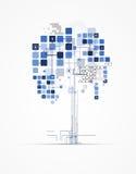 Solução abstrata do negócio da informática do Internet da árvore Fotos de Stock