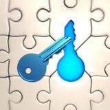 Solução chave Imagem de Stock
