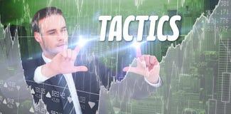 Solução contra a relação do negócio com gráficos e dados Fotos de Stock