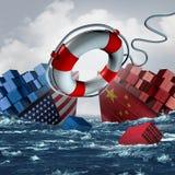 Solução da guerra comercial ilustração royalty free